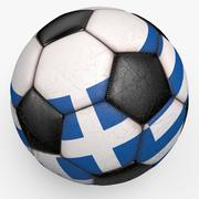 Soccerball Greece 3d model
