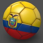 Soccerball pro sauberes Ecuador 3d model