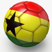 Soccerball pro sauberes Ghana 3d model