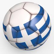 Soccerball pro sauberes Griechenland 3d model