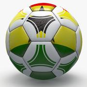 Soccerball pro triangles Ghana 3d model