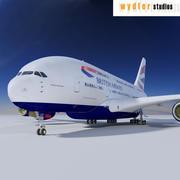 Airbus A380 İngiliz Havayolları 3d model