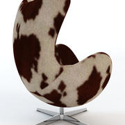 Arne Jacobsen Kuhfell Egg Chair 3d model