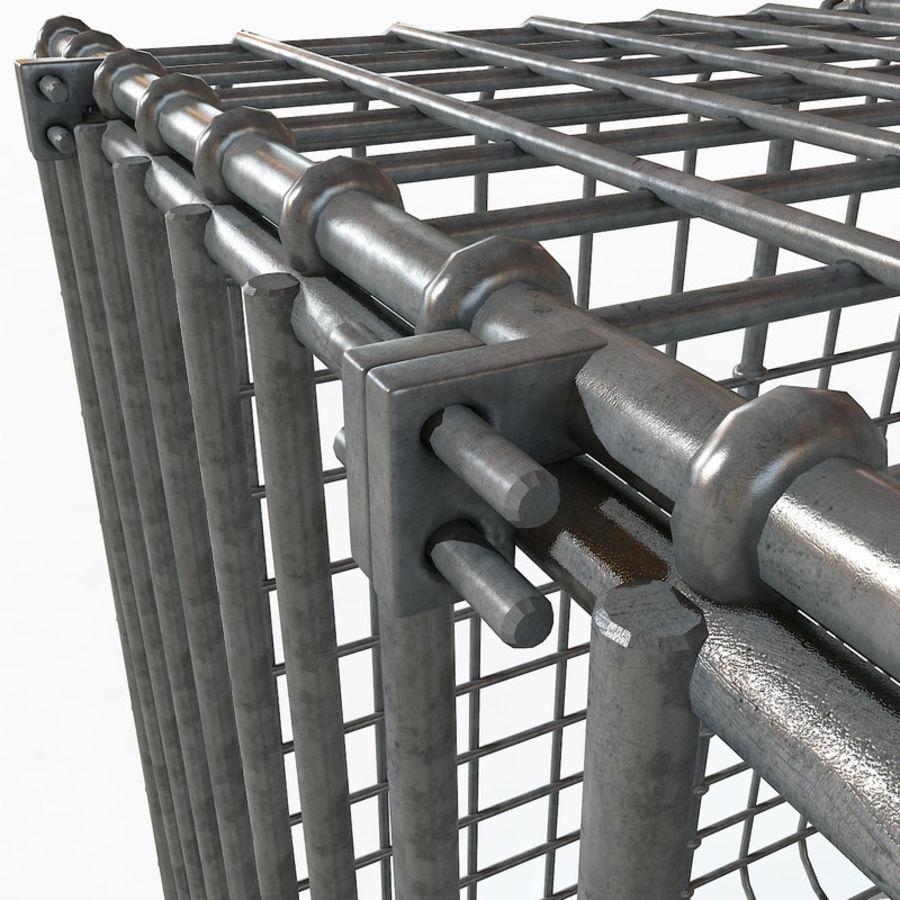 Transport zwierząt Drut Klatka metalowa Sprzęt Siatka Siatka Hutch Coop Crate royalty-free 3d model - Preview no. 15