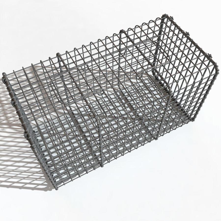 Transport zwierząt Drut Klatka metalowa Sprzęt Siatka Siatka Hutch Coop Crate royalty-free 3d model - Preview no. 4