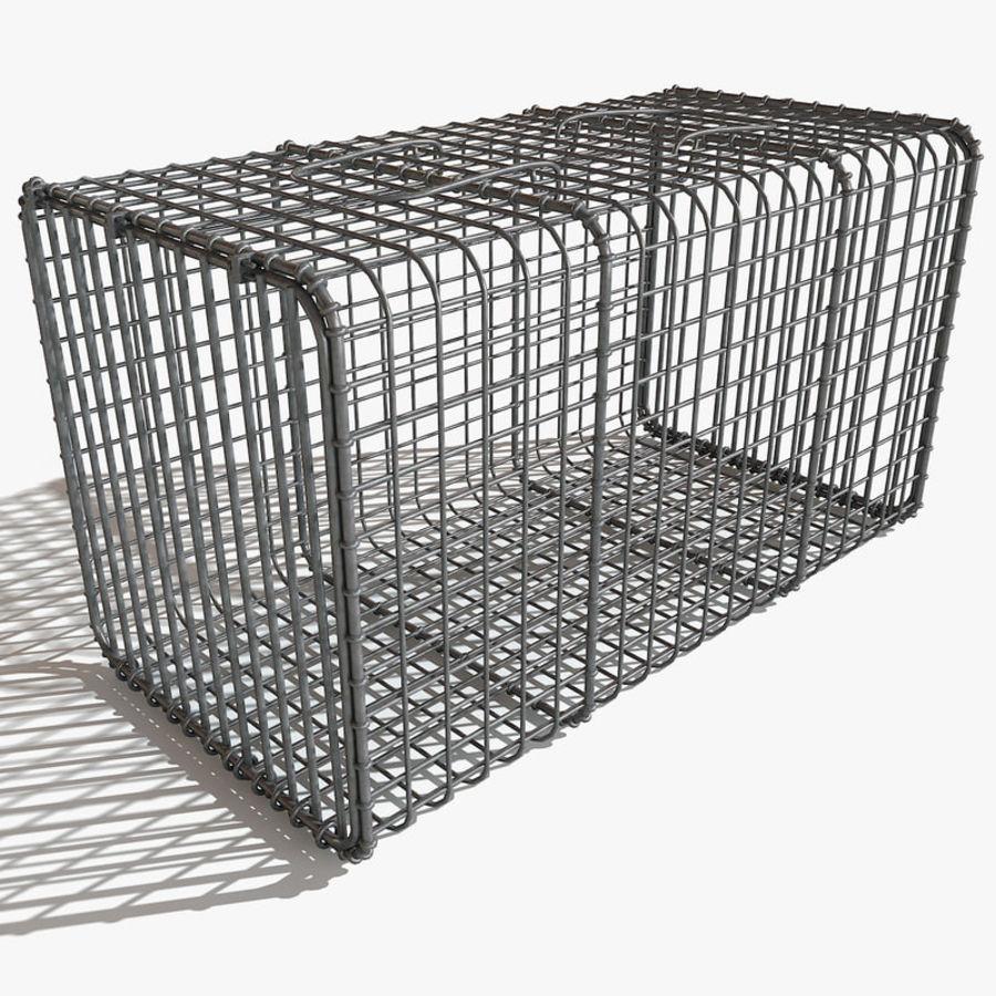 Transport zwierząt Drut Klatka metalowa Sprzęt Siatka Siatka Hutch Coop Crate royalty-free 3d model - Preview no. 2