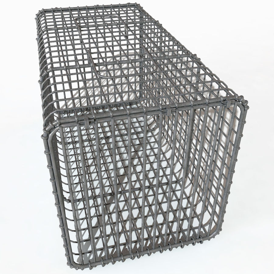 Transport zwierząt Drut Klatka metalowa Sprzęt Siatka Siatka Hutch Coop Crate royalty-free 3d model - Preview no. 7