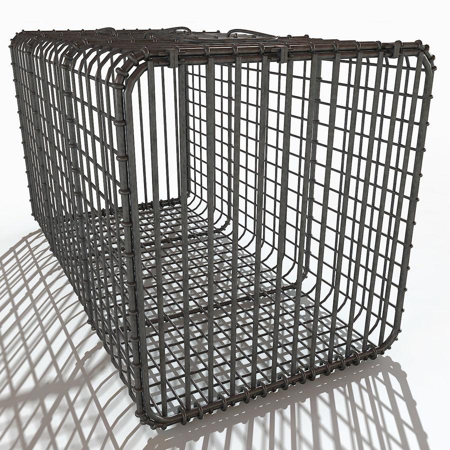 Transport zwierząt Drut Klatka metalowa Sprzęt Siatka Siatka Hutch Coop Crate royalty-free 3d model - Preview no. 6