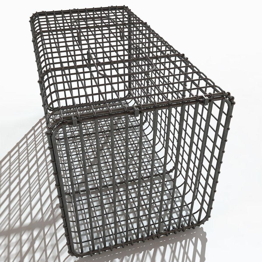 Transport zwierząt Drut Klatka metalowa Sprzęt Siatka Siatka Hutch Coop Crate royalty-free 3d model - Preview no. 8