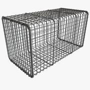 动物运输金属网笼设备网状网箱 3d model