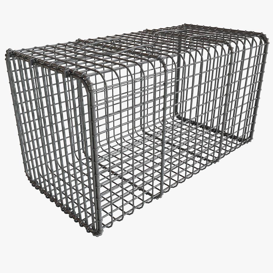 Transport zwierząt Drut Klatka metalowa Sprzęt Siatka Siatka Hutch Coop Crate royalty-free 3d model - Preview no. 1