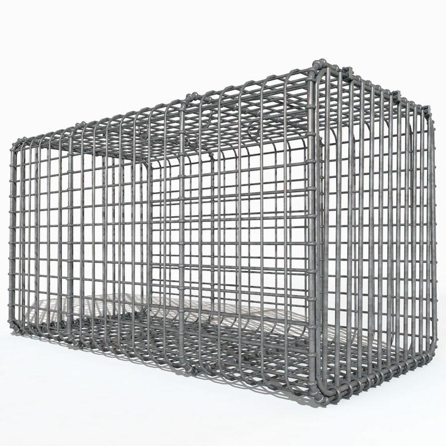Transport zwierząt Drut Klatka metalowa Sprzęt Siatka Siatka Hutch Coop Crate royalty-free 3d model - Preview no. 3