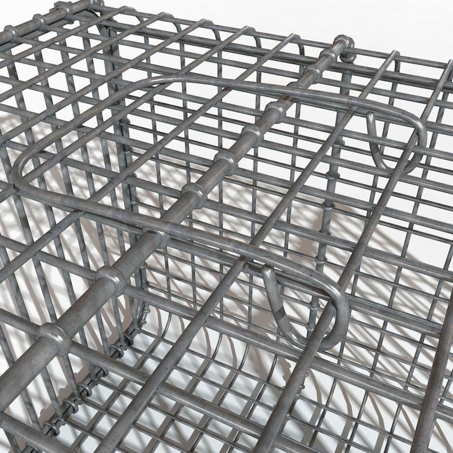 Transport zwierząt Drut Klatka metalowa Sprzęt Siatka Siatka Hutch Coop Crate royalty-free 3d model - Preview no. 5