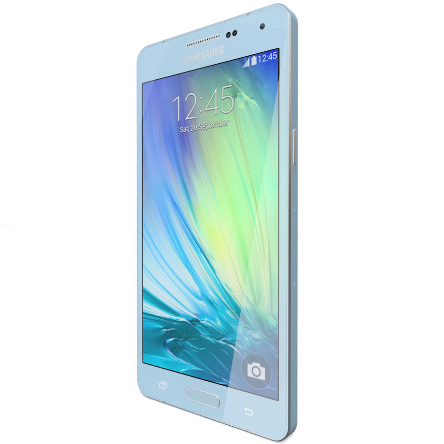 Samsung Galaxy A5 Blue royalty-free 3d model - Preview no. 5