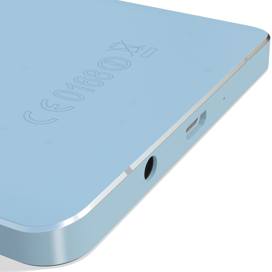 Samsung Galaxy A5 Blue royalty-free 3d model - Preview no. 15