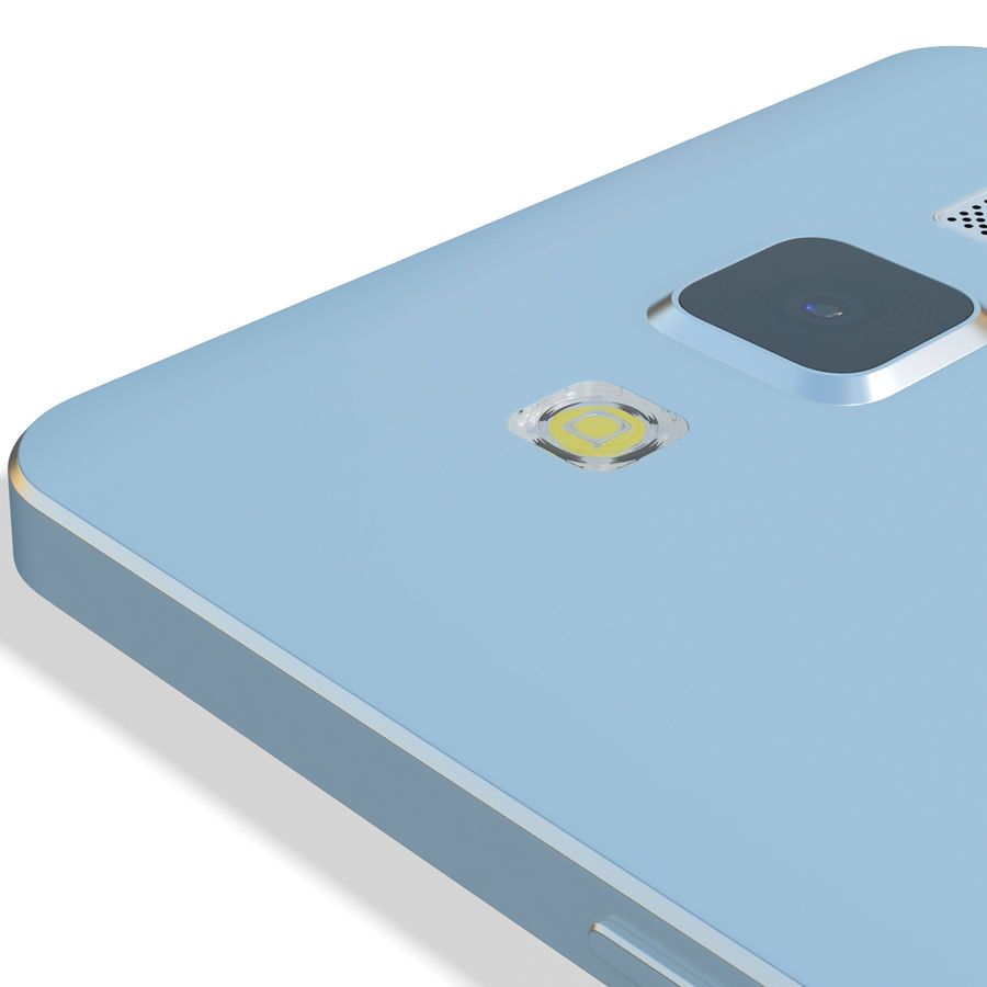 Samsung Galaxy A5 Blue royalty-free 3d model - Preview no. 14