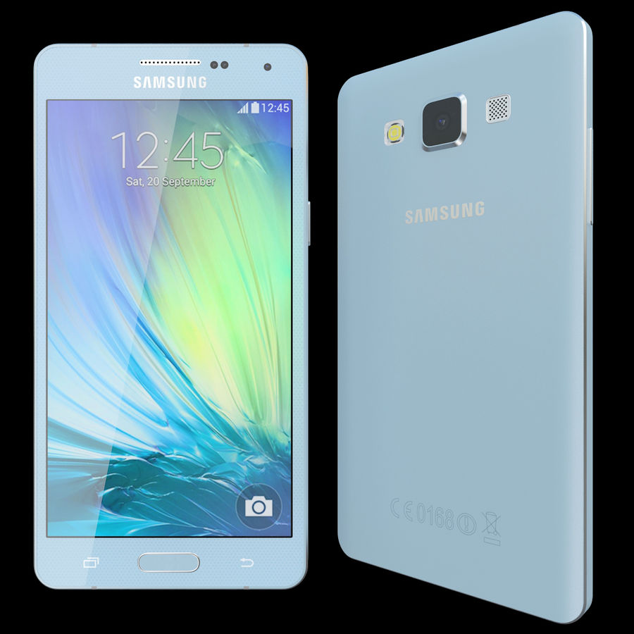 Samsung Galaxy A5 Blue royalty-free 3d model - Preview no. 2