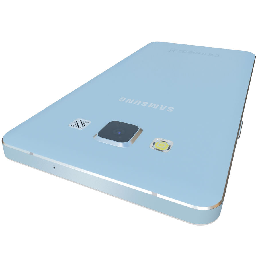 Samsung Galaxy A5 Blue royalty-free 3d model - Preview no. 10