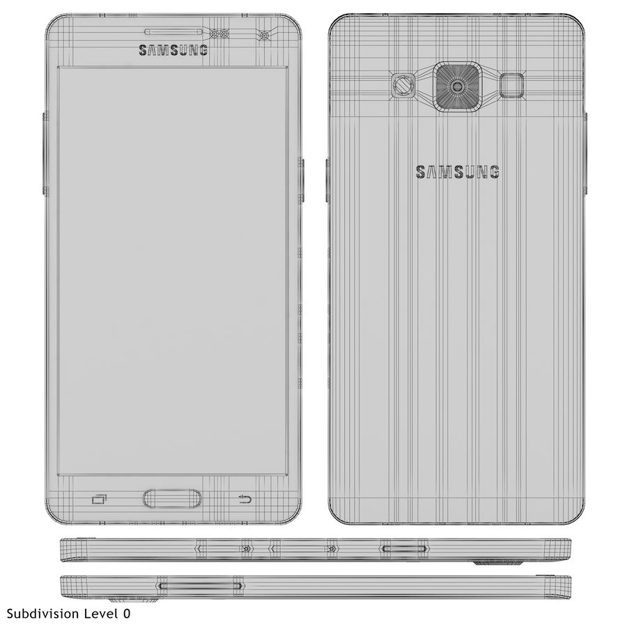 Samsung Galaxy A5 Blue royalty-free 3d model - Preview no. 21