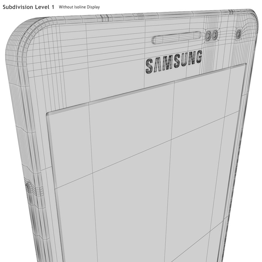 Samsung Galaxy A5 Blue royalty-free 3d model - Preview no. 28