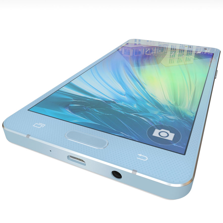 Samsung Galaxy A5 Blue royalty-free 3d model - Preview no. 11