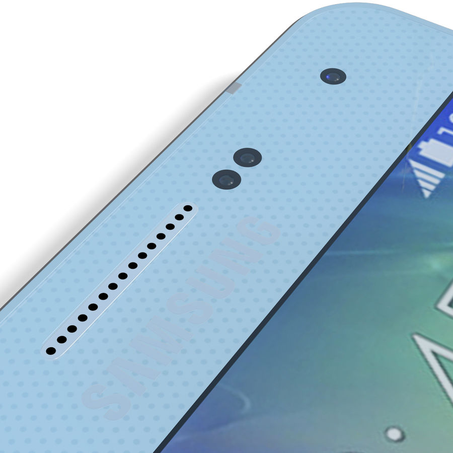 Samsung Galaxy A5 Blue royalty-free 3d model - Preview no. 18