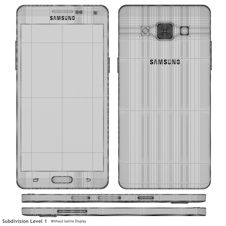 Samsung Galaxy A5 Blue royalty-free 3d model - Preview no. 22