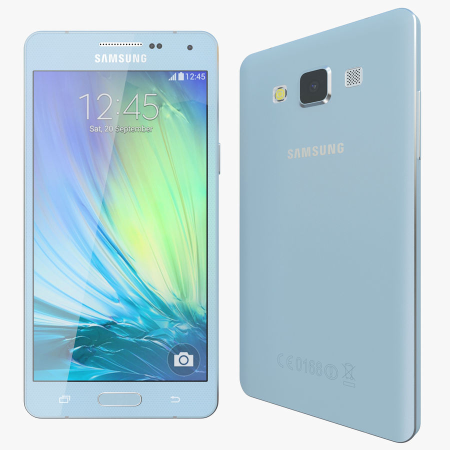 Samsung Galaxy A5 Blue royalty-free 3d model - Preview no. 1