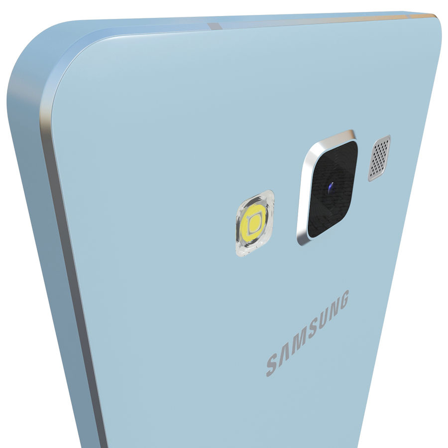 Samsung Galaxy A5 Blue royalty-free 3d model - Preview no. 6