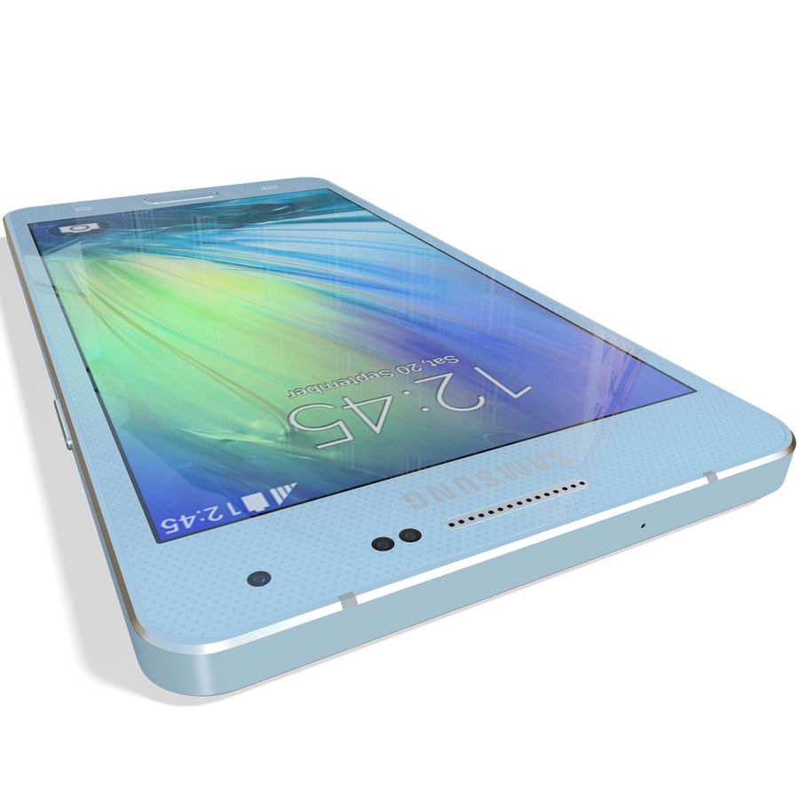 Samsung Galaxy A5 Blue royalty-free 3d model - Preview no. 13