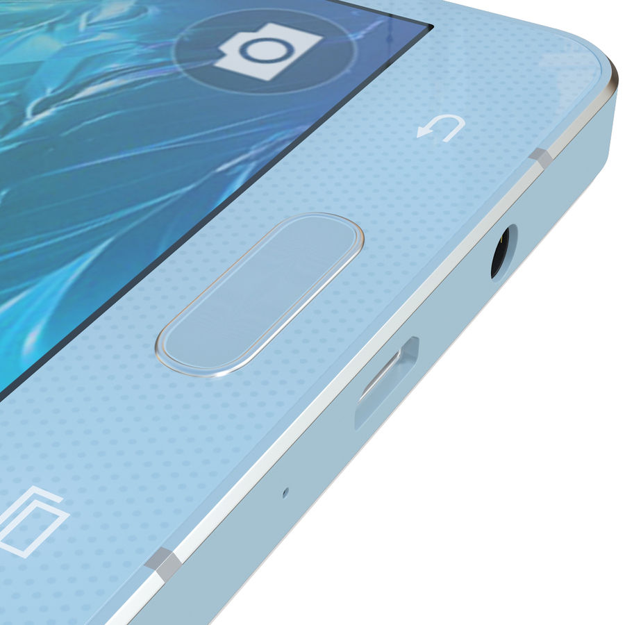 Samsung Galaxy A5 Blue royalty-free 3d model - Preview no. 17