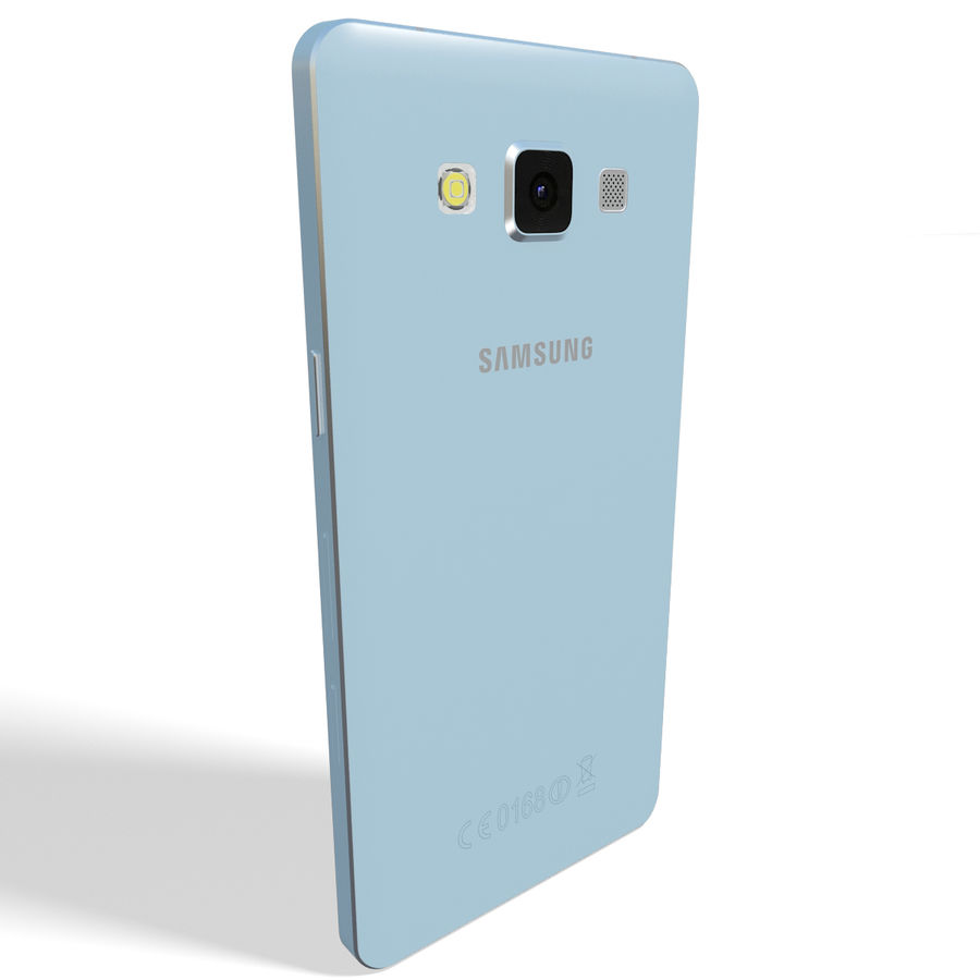 Samsung Galaxy A5 Blue royalty-free 3d model - Preview no. 4
