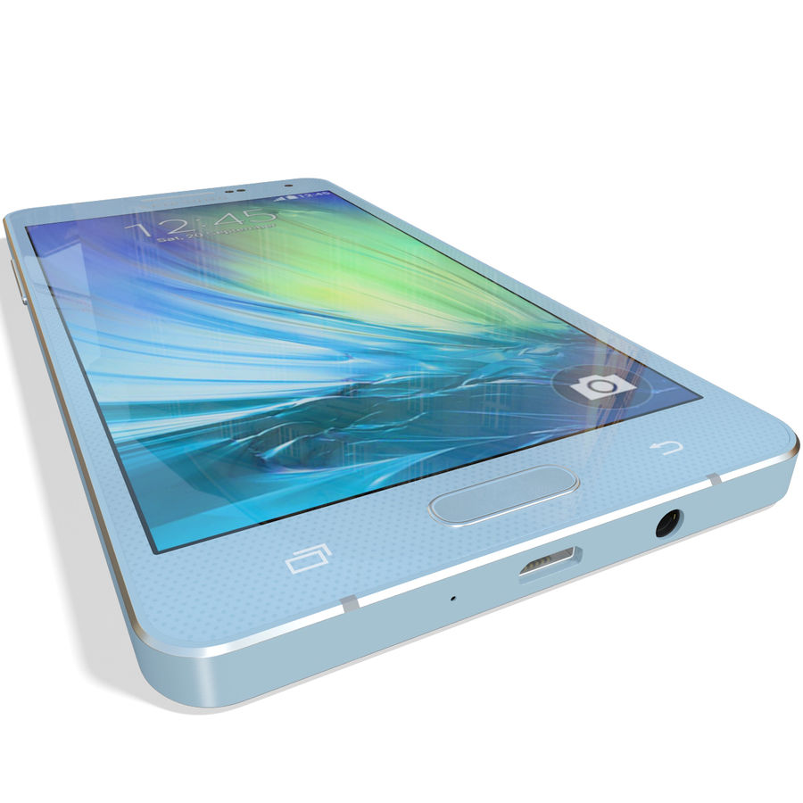 Samsung Galaxy A5 Blue royalty-free 3d model - Preview no. 12