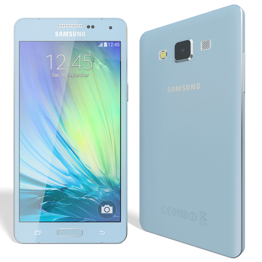 Samsung Galaxy A5 Blue royalty-free 3d model - Preview no. 3