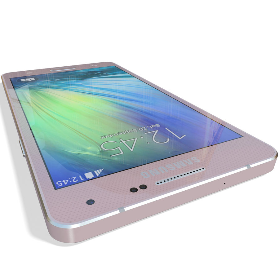 Samsung Galaxy A5 Pink royalty-free 3d model - Preview no. 13
