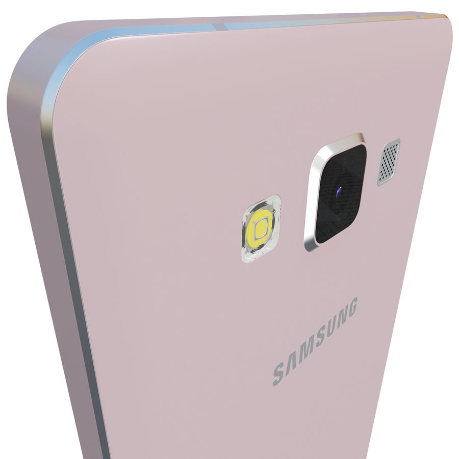 Samsung Galaxy A5 Rose royalty-free 3d model - Preview no. 6