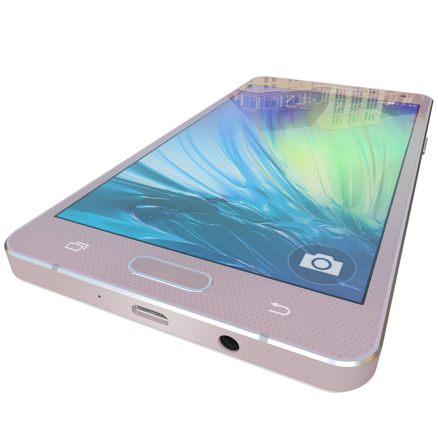 Samsung Galaxy A5 Rose royalty-free 3d model - Preview no. 11