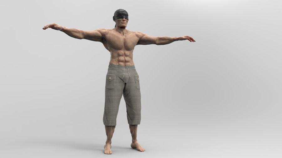 Dokulu insan royalty-free 3d model - Preview no. 3