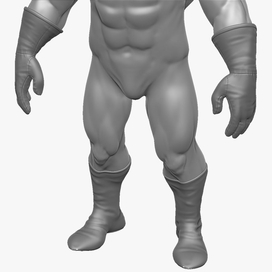 Superheld-Mann royalty-free 3d model - Preview no. 7