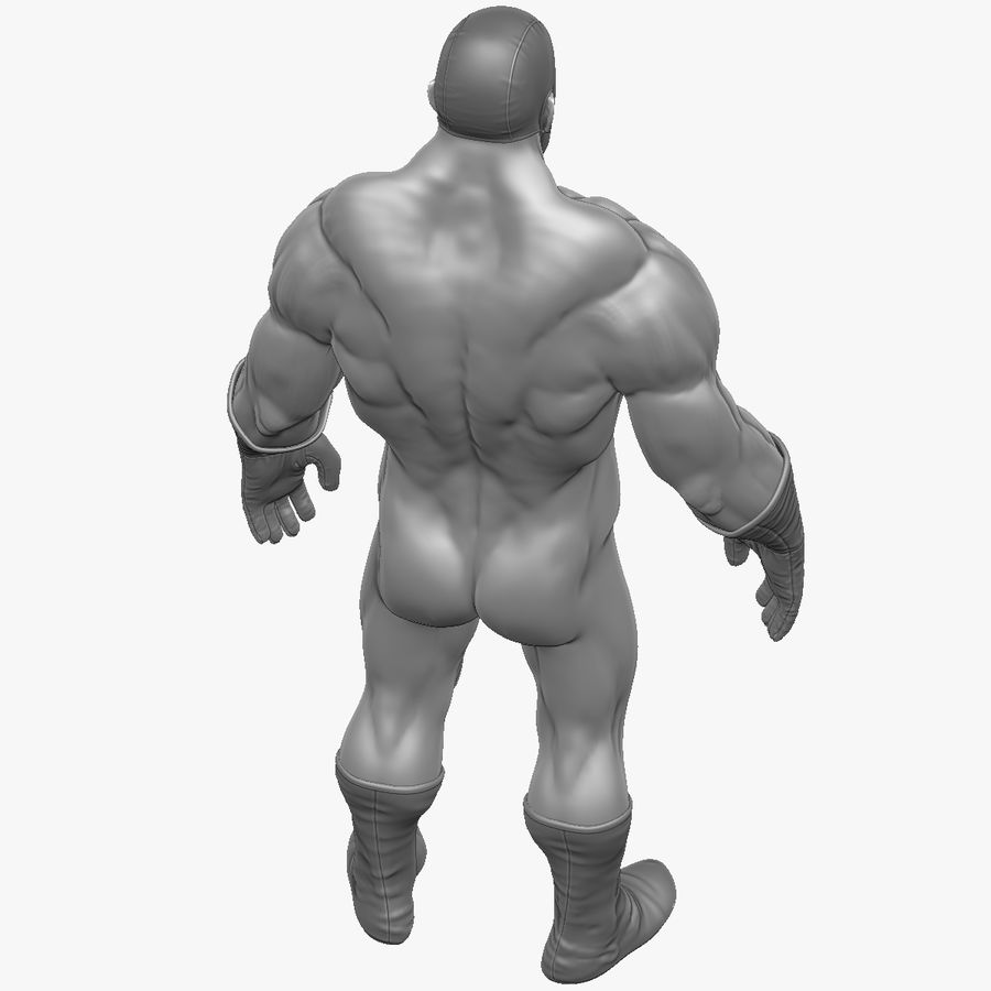 Superheld-Mann royalty-free 3d model - Preview no. 4