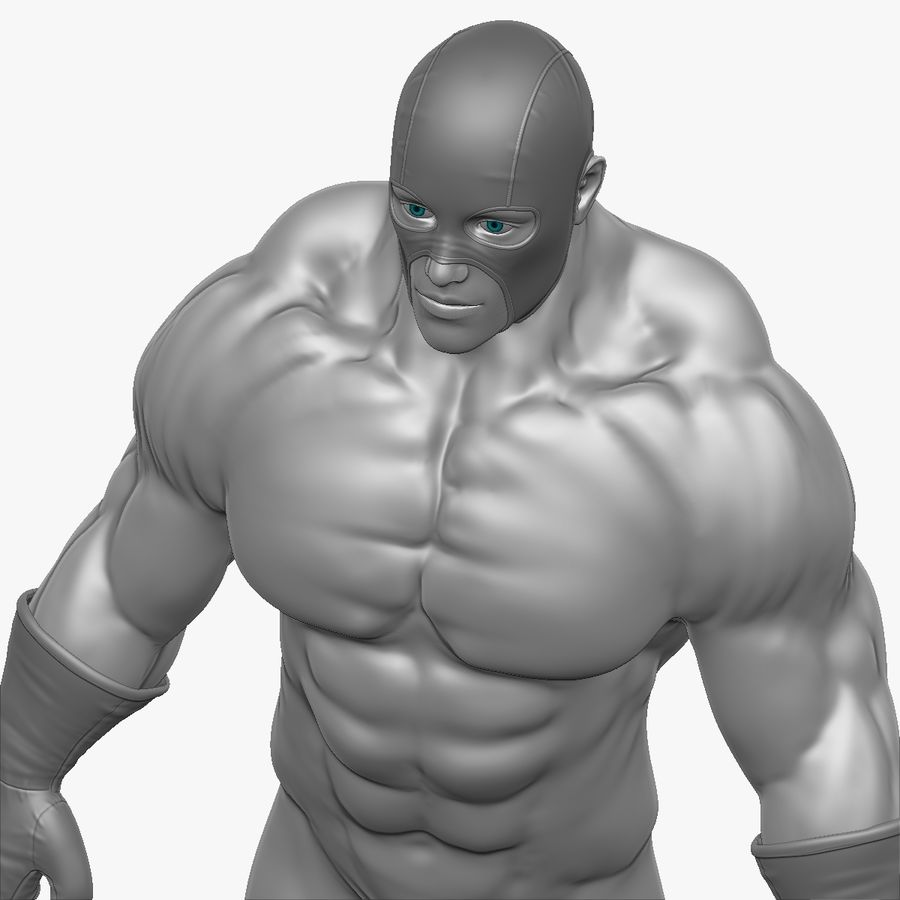 Superheld-Mann royalty-free 3d model - Preview no. 1