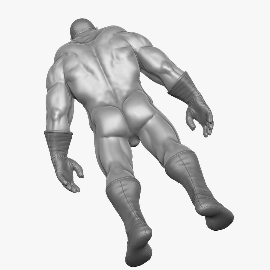 Superheld-Mann royalty-free 3d model - Preview no. 20