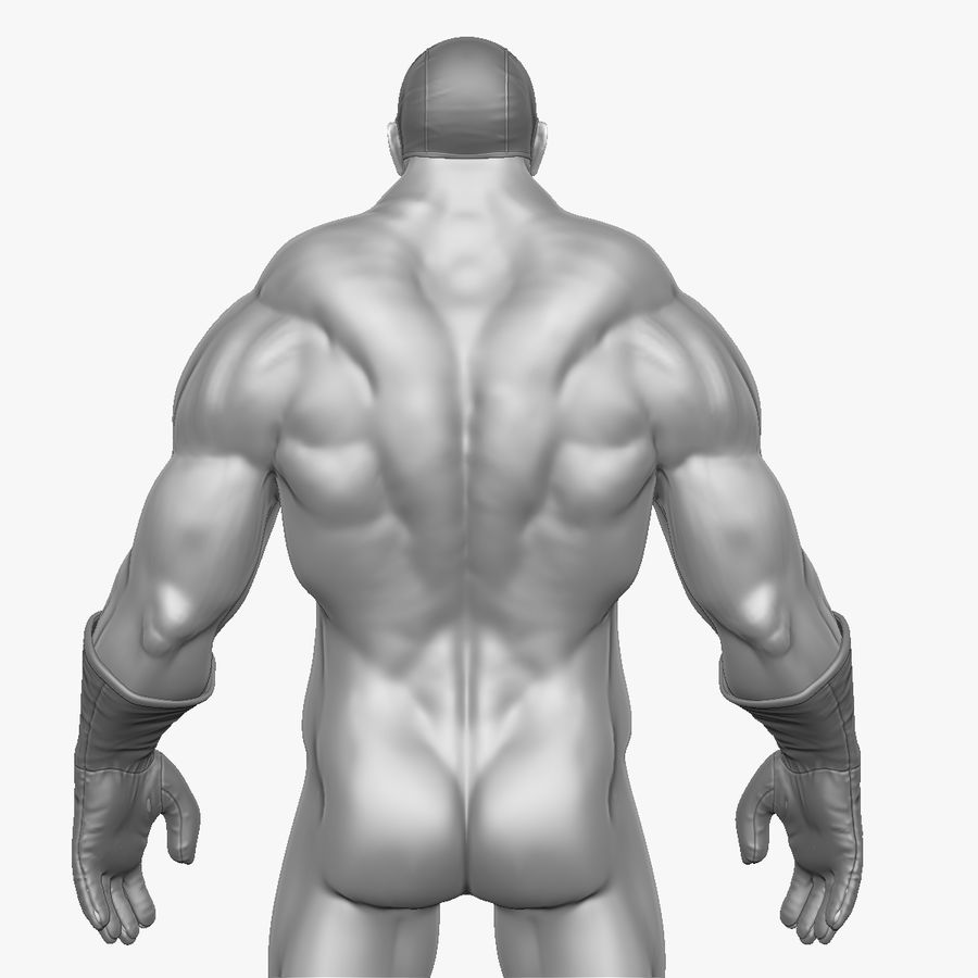 Superheld-Mann royalty-free 3d model - Preview no. 6