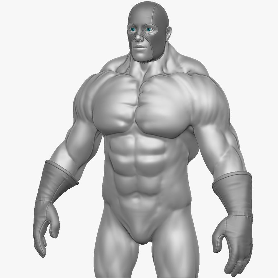 Superheld-Mann royalty-free 3d model - Preview no. 5