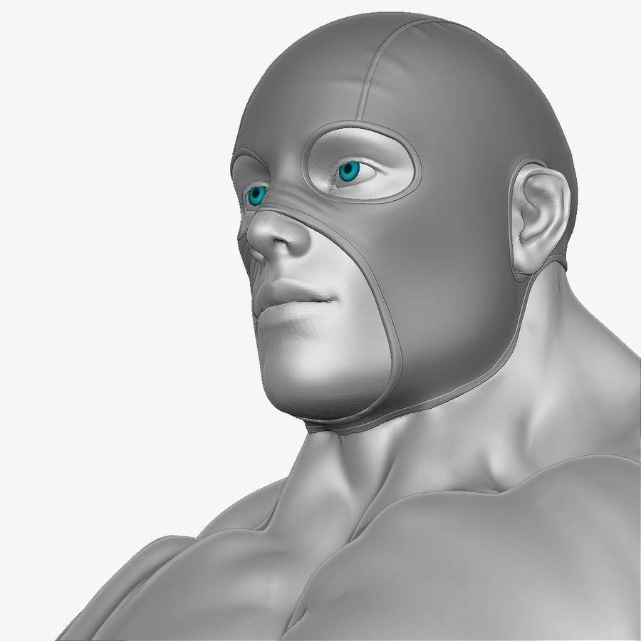 Superheld-Mann royalty-free 3d model - Preview no. 11