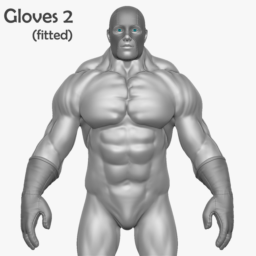 Superheld-Mann royalty-free 3d model - Preview no. 9