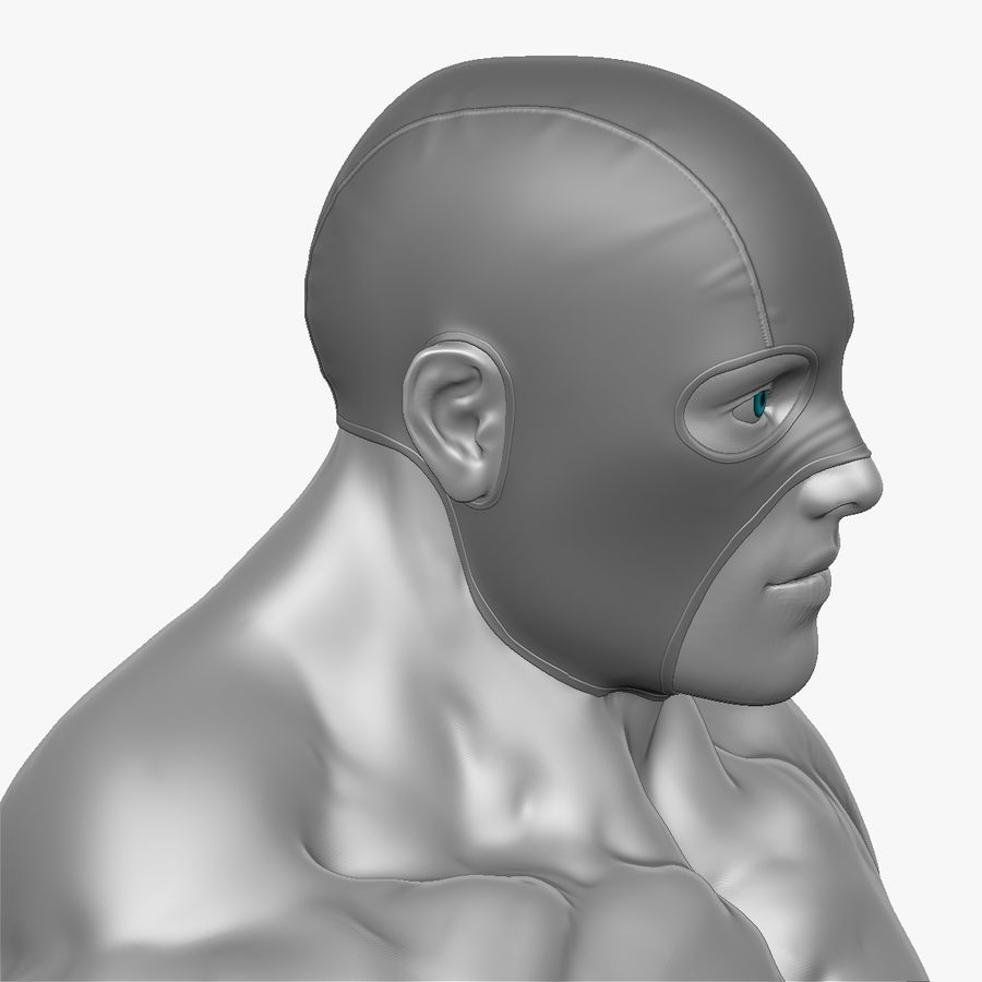 Superheld-Mann royalty-free 3d model - Preview no. 12