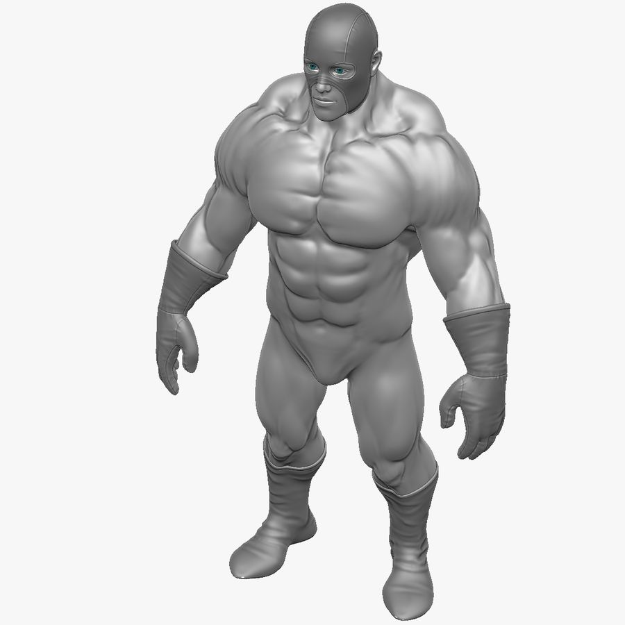Superheld-Mann royalty-free 3d model - Preview no. 3