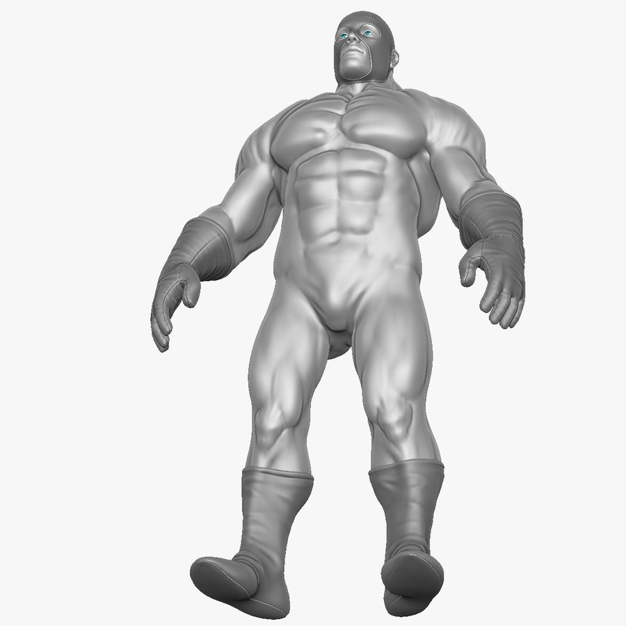 Superheld-Mann royalty-free 3d model - Preview no. 19