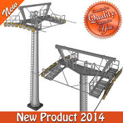 Cableway Mid Pillar 3d model